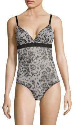 Stella McCartney Florence Fluttering One-Piece Printed Bodysuit