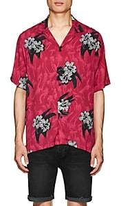 Ksubi Men's Acid Vacay Floral Twill Shirt - Red
