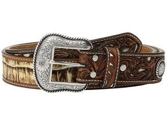 M&F Western Croc Pierced Overlay Belt