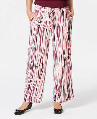 JM Collection Printed Drawstring Pants