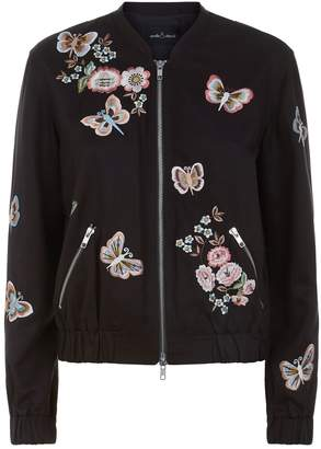 Needle & Thread Butterfly Rose Bomber Jacket