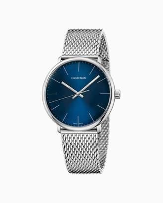 Calvin Klein High Noon Mesh Blue Dial Watch