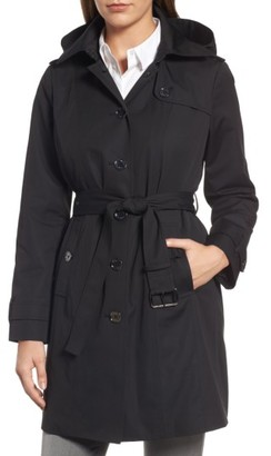 Women's Michael Michael Kors Core Trench Coat With Removable Hood & Liner $210 thestylecure.com