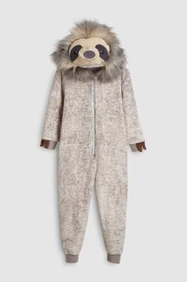 Next Boys Grey Sloth Fleece All-In-One (3-16yrs)