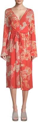 Free People Women's Mixed Print Twist Dress