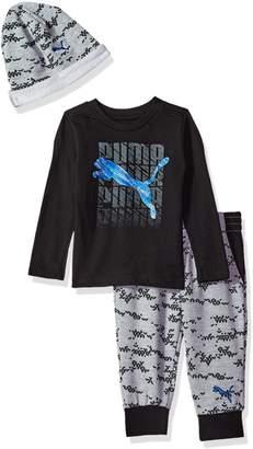 Puma Baby Boy's Boys' Three Piece Jogger, T-Shirt and Hat Set Pants