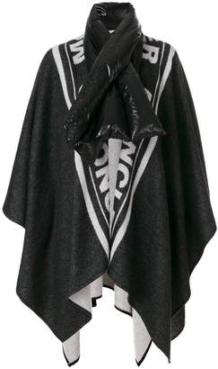 Moncler oversized padded collar cape