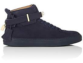 Buscemi Men's 100MM Grained Nubuck Sneakers - Blue