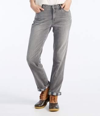 L.L. Bean L.L.Bean 1912 Jeans, Straight-Leg Lined
