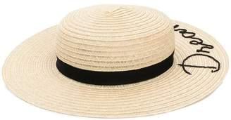 Eugenia Kim slogan embroidered sun hat