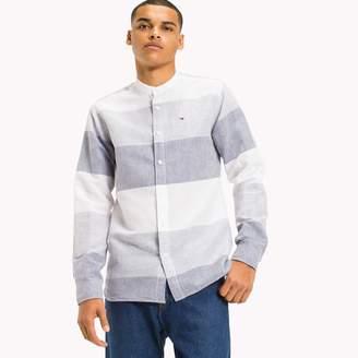 Tommy Hilfiger Cotton Linen Collarless Shirt