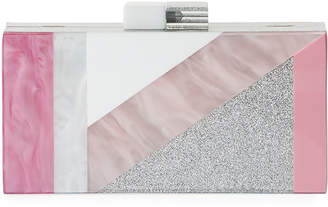 Neiman Marcus Mixed Geometric Resin Evening Box Clutch Bag