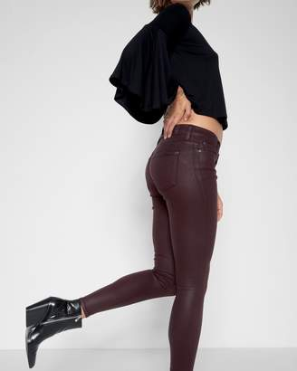7 For All Mankind Ankle Skinny Coated in Scarlet