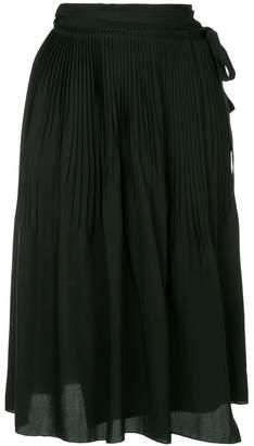 Jil Sander Navy tie Pleated Skirt