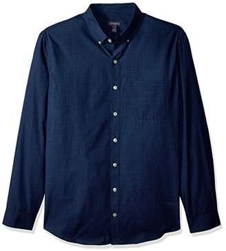 Van Heusen Men's Size Big and Tall Wrinkle Free Poplin Long Sleeve Button Down Shirt