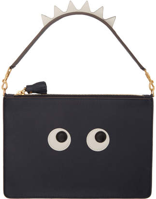 Anya Hindmarch Navy Large Zip Pouch