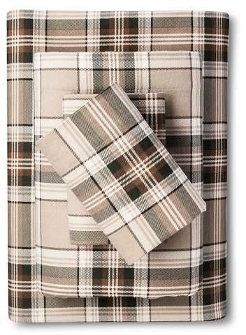 Eddie Bauer® Edgewood Plain Flannel Sheet Set (Twin) Green