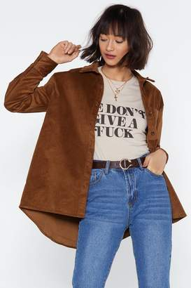 Nasty Gal You Always Shirt the One You Love Cord Shirt