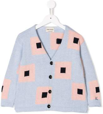 Bobo Choses square pattern knitted cardigan