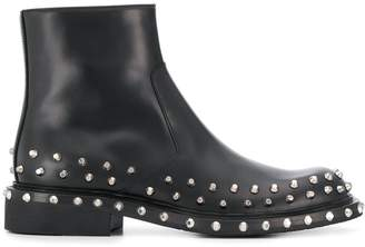 Prada studded ankle boots