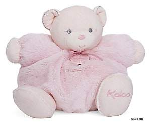 Kaloo Men's Large Chubby Plush Pink Rattle Bear