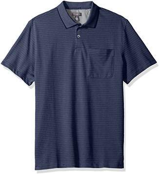 Van Heusen Men's Jacquard Short Sleeve Polo