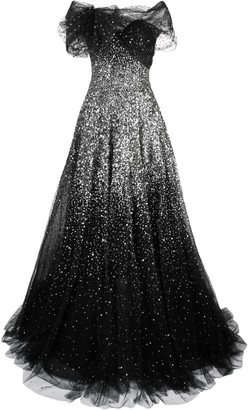 Marchesa diffusing sequin gown