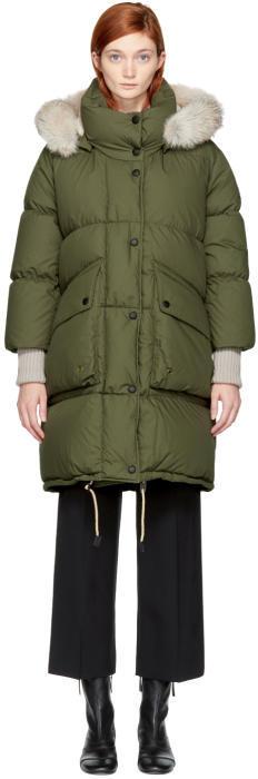 Burberry Green Down Long Shackleton Coat