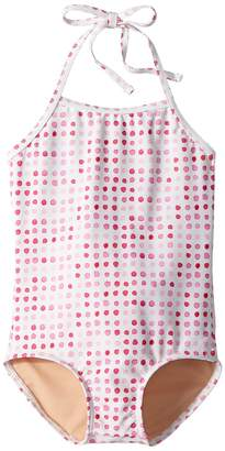 Toobydoo Pink Dot One-Piece Swimsuit Girl's Swimsuits One Piece