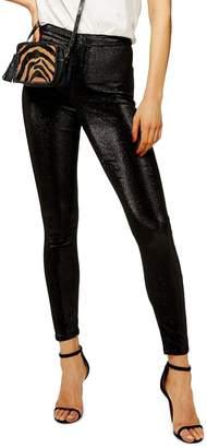 Topshop Joni Metallic Jeans