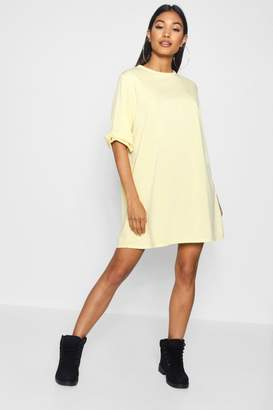 boohoo Katie Bow Sleeve Oversized Sweat Dress