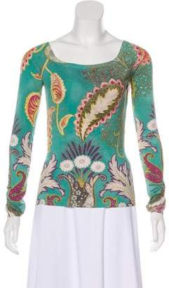 Etro Long Sleeve Knit Top