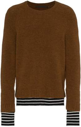 Haider Ackermann stripe hem jumper