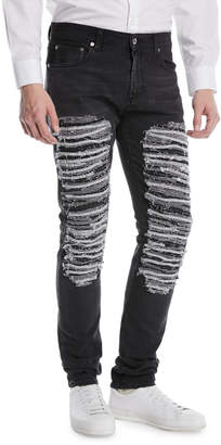 Alexander McQueen Destroyed Straight-Leg Jeans