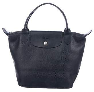 Longchamp Grained Leather Le Pliage Tote