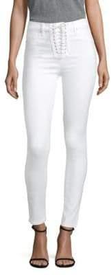 Bullocks High-Rise Lace-Up Super Skinny Jeans