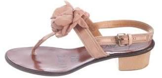 Lanvin Satin Slingback Sandals