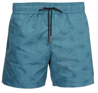 Bottega Veneta Butterfly Jacquard Swim Shorts - Mens - Blue