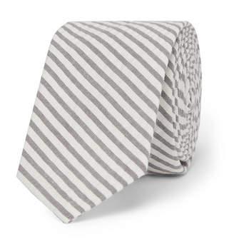 Thom Browne 5.5cm Striped Cotton-Seersucker Tie