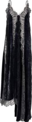 Stella McCartney Assymetrical Velvet Lace Gown