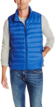 Hawke & Co Men's Heathered Lightweight Down Packable Puffer Vest