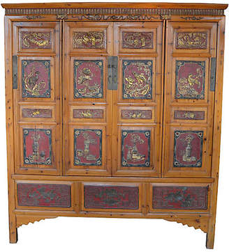 One Kings Lane Vintage Antique Chinese Carved Cabinet - FEA Home
