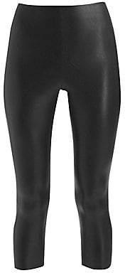 Commando Women's Perfect Control Faux Leather Capri Leggings
