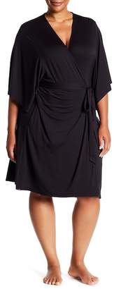Barefoot Dreams Luxe Milk Jersey Short Robe (Plus Size)