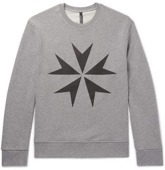 Neil Barrett Printed Cotton-Jersey Sweatshirt