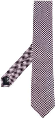 Gieves & Hawkes embroidered houndstooth tie