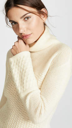 TSE Long Line Bell Sleeve Cashmere Turtleneck