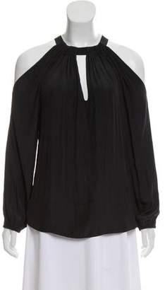Ramy Brook Long Sleeve Cold-Shoulder Top