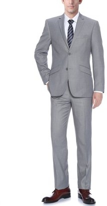Verno Bellomi Big Men's Light Grey Slim Fit Italian Styled Two Piece Suit