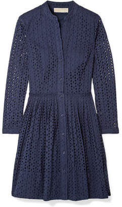 MICHAEL Michael Kors Broderie Anglaise Cotton Dress - Navy